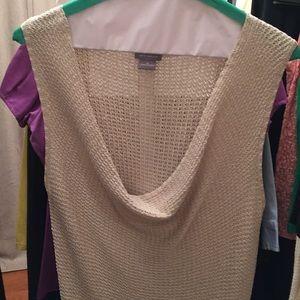 Ann taylor knit cowl neck sleeveless sweater